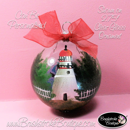 Hand Painted Ornament - Marblehead Lighthouse - Original Designs by Cathy Kraemer