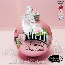 Hand Painted Ornament - Glass Ball Ornament - Music Soothes - Original Designs by Cathy Kraemer