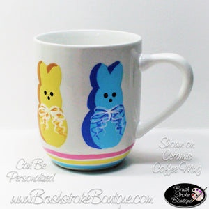Hand Painted Coffee Mug - Somebunny Loves Coffee - Original Designs by Cathy Kraemer