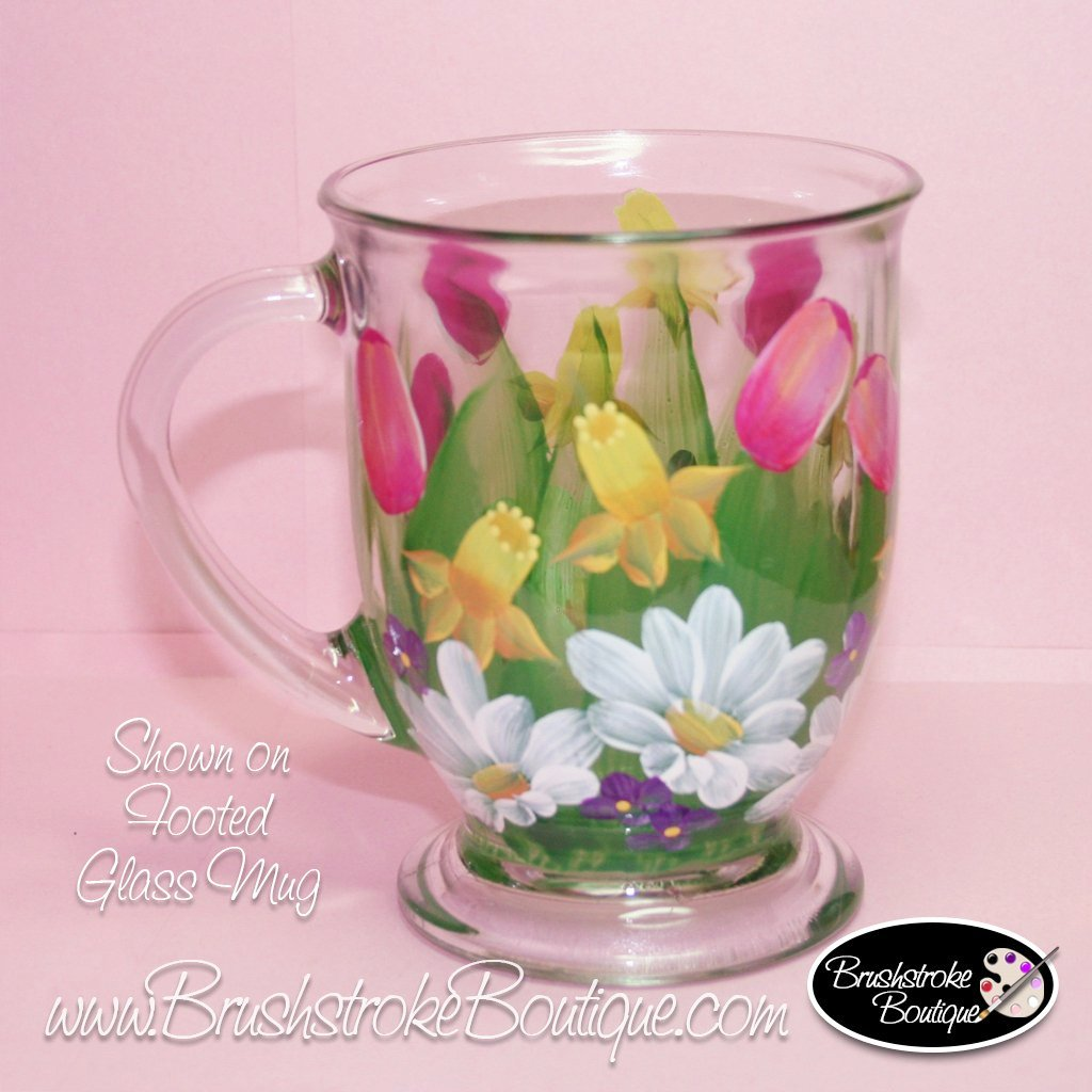 Hand Painted Coffee Mug - Spring Bouquet - Original Designs by Cathy Kraemer