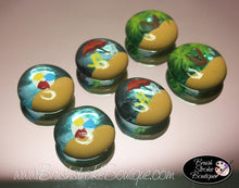 Hand Painted Glass Gems - Beachy Keen - Original Designs by Cathy Kraemer