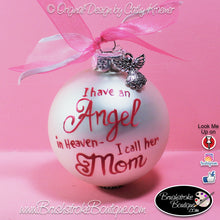 Hand Painted Ornament - Glass Ball Ornament - Angel in Heaven - Original Designs by Cathy Kraemer