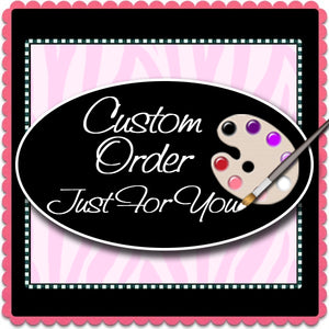 Custom Order for Melonie Ann - Hand Painted Glassware - Original Designs by Cathy Kraemer