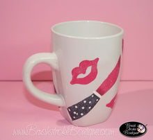 Hand Painted Coffee Mug - Hot Lips - Original Designs by Cathy Kraemer