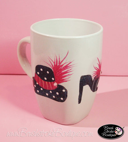 Hand Painted Coffee Mug - Girl Fun - Original Designs by Cathy Kraemer