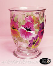 Hand Painted Coffee Mug - Pansies - Original Designs by Cathy Kraemer