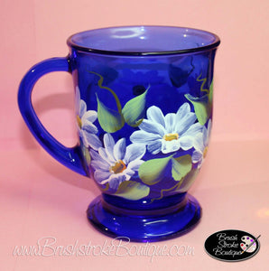 Hand Painted Coffee Mug - Daisies - Original Designs by Cathy Kraemer