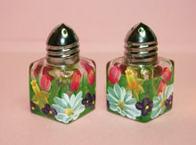 Mini Hand Painted Salt & Pepper Shakers - Spring Bouquet - Original Designs by Cathy Kraemer