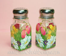 Hand Painted Salt & Pepper Shakers - Spring Bouquet - Original Designs by Cathy Kraemer