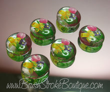 Hand Painted Glass Gems - Spring Bouquet - Original Designs by Cathy Kraemer