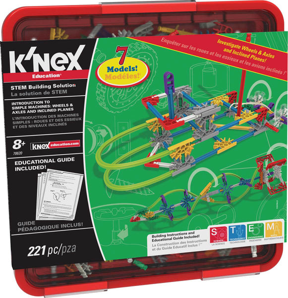 K'NEX Education Intro To Simple Machines Wheels, Axles, & Inclined Planes Set