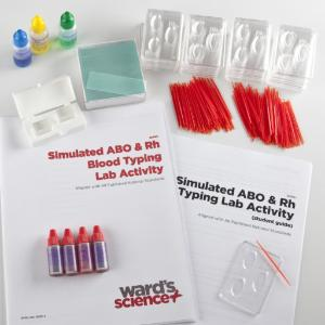 Simulated ABO and Rh Blood Typing Kit