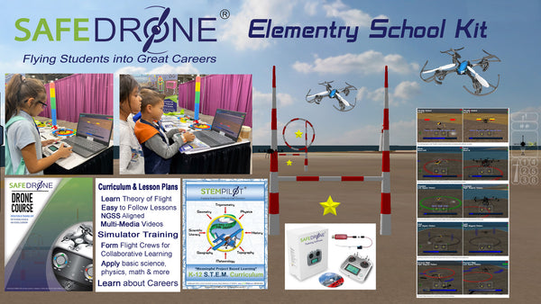 SAFEPilot SAFEDrone® Elementary School Kit: Crews of 4-6
