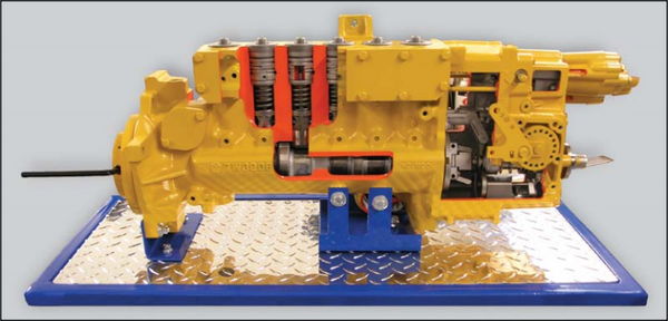 CAT 3406B Diesel Injection Pump Cutaway