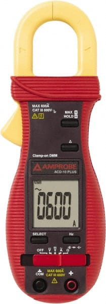 Amp Meter, 400 VAC/VDC, 600 AC Amps clamp-on type