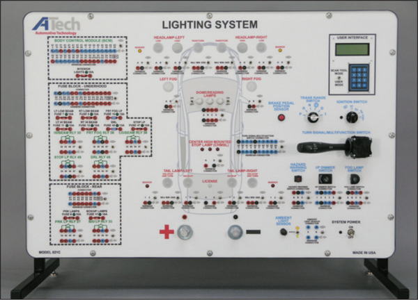 Lighting System (CAN)) Trainer / Courseware