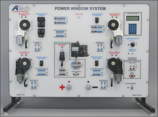 Power Windows (CAN) Trainer / Courseware