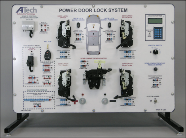 Power Door Lock System (J1850) Trainer / Courseware