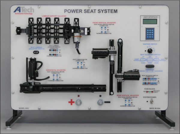 Power Seat System (CAN) Trainer / Courseware