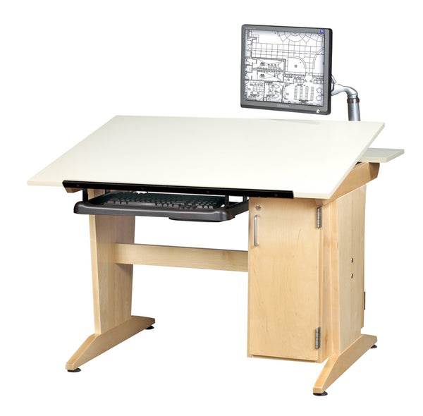 Drafting Table with Monitor Arm