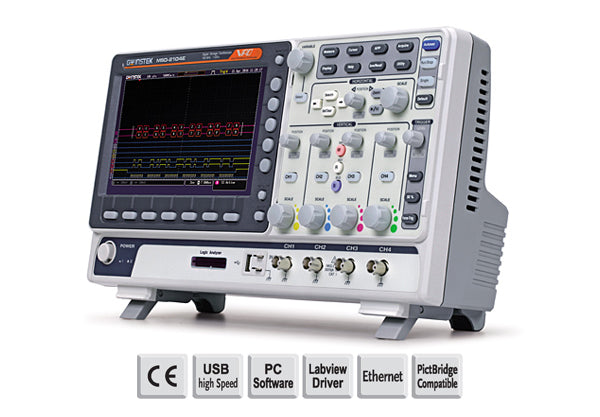 100MHz, 2-channel, Digital Storage Oscilloscope, 16-channel LA, dual channel 25MHz AFG