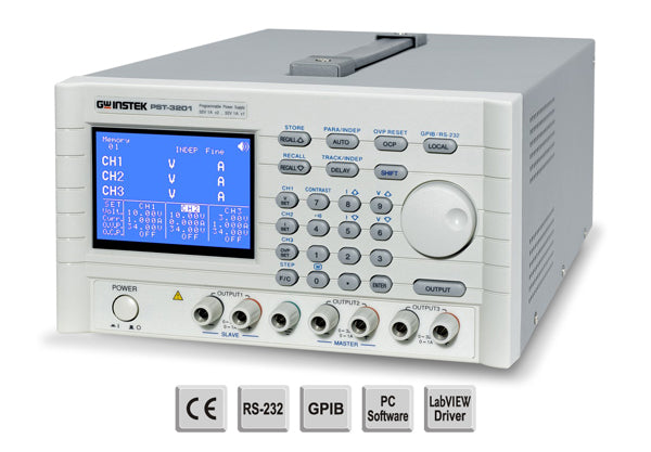 Programmable DC Linear Multi channel, 0-32Vx2,0-6Vx1,0-2Ax2,0-5Ax1