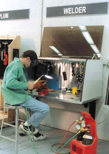 Welder with Security Desk