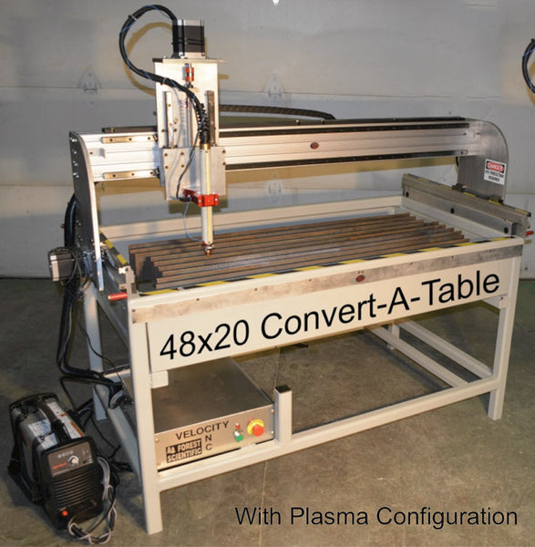 "Convert-A-Table CNC Router / Plasma 48""x20"" (fits through 36"" door)"