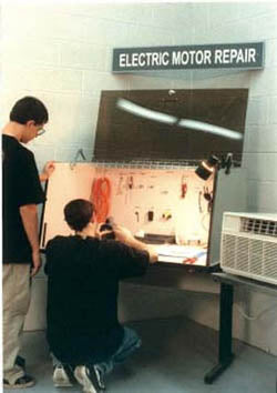 Electric Motor Repair with Security Desk