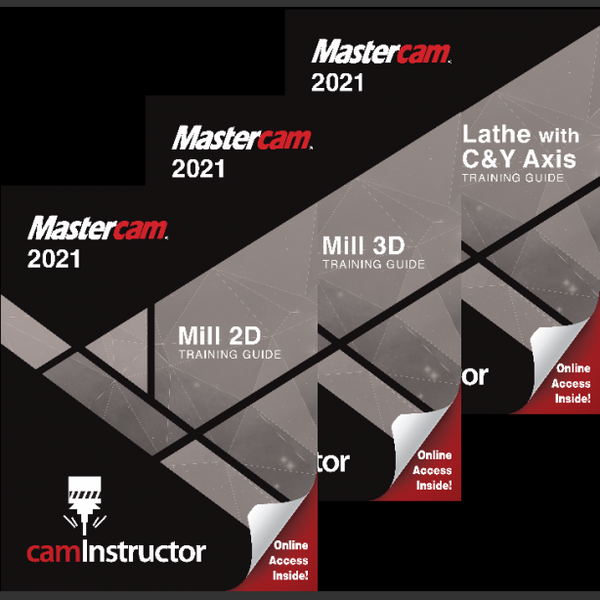 Mastercam 2021 - Mill 2D & 3D & Lathe Training Guide Combo