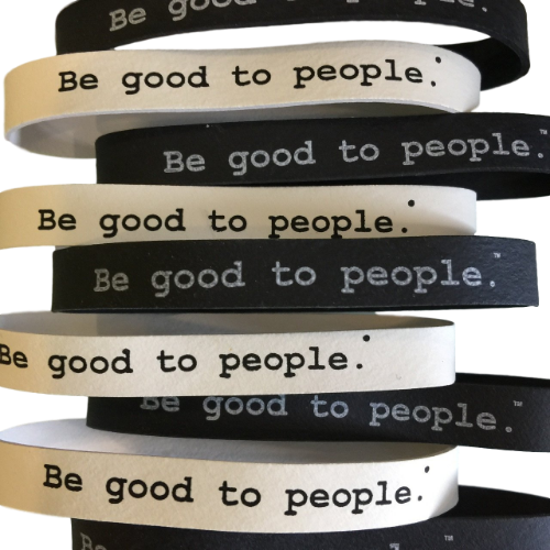 Be Good to People Classic Printed Rubber Bands