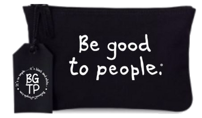 Be Good to People Collection Zippered Clutch