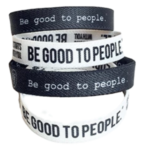 Be Good to People Collection Woven Stretch Bands