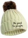Be Good to People Signature Fleece Faux Pom