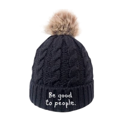 Be Good to People Signature Faux Pom