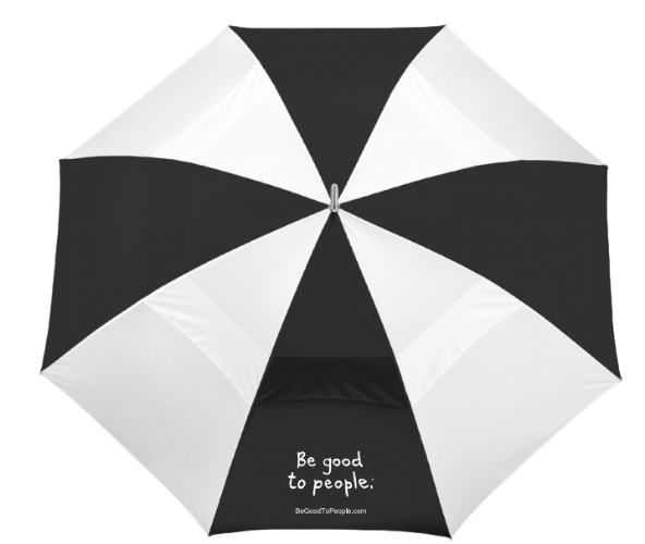 Be Good to People Golf Umbrella
