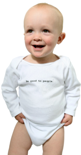 Be Good to People Classic Long Sleeve Onesie