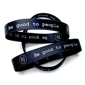 Black Woven Bands Classic Logo