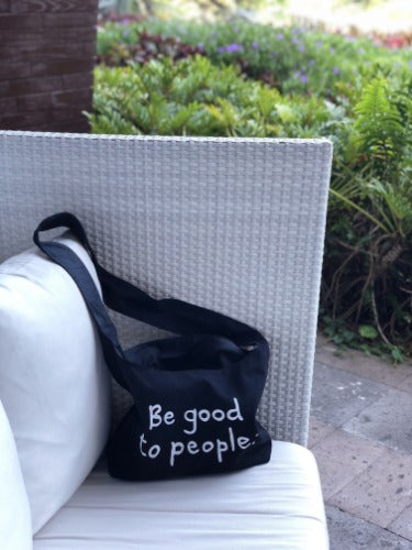 Be Good to People Signature Canvas Sling