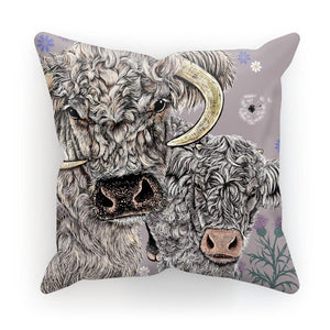 Longhorn Cow Cushion; Cappuccino; Fox and Boo
