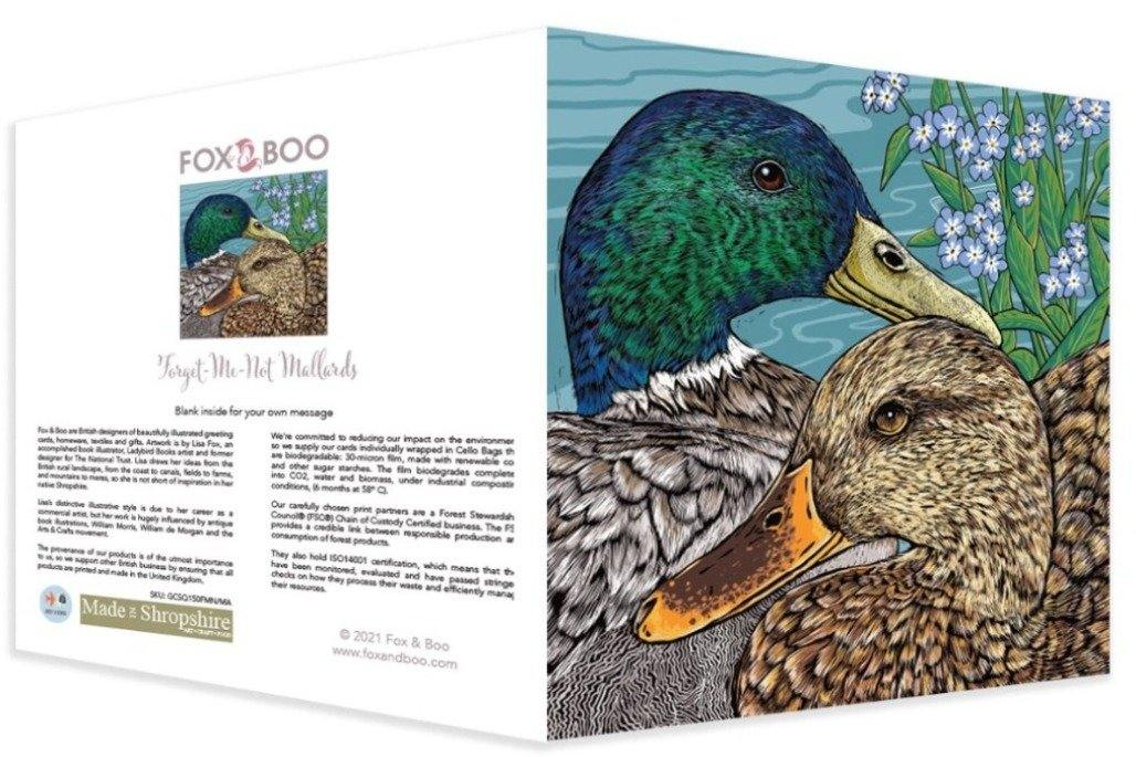 Mallard Duck Greeting Card by Fox and Boo