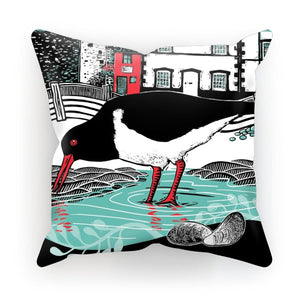 Conwy Oystercatcher Cushion by Fox & Boo