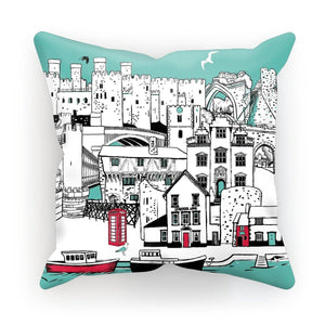 Conwy Town Cushion; Fox & Boo