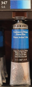 Alizarin Blue Lake 347-Oil Paint-Sennelier-Freya Jones Spinning and Fibre Craft