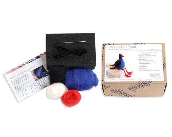Ashford Needle Felting Kit - Pauly the Pukeko-Freya Jones-Freya Jones Art and Craft