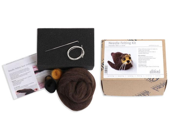 Ashford Needle Felting Kit - Sammy The Seal-Freya Jones-Freya Jones Art and Craft