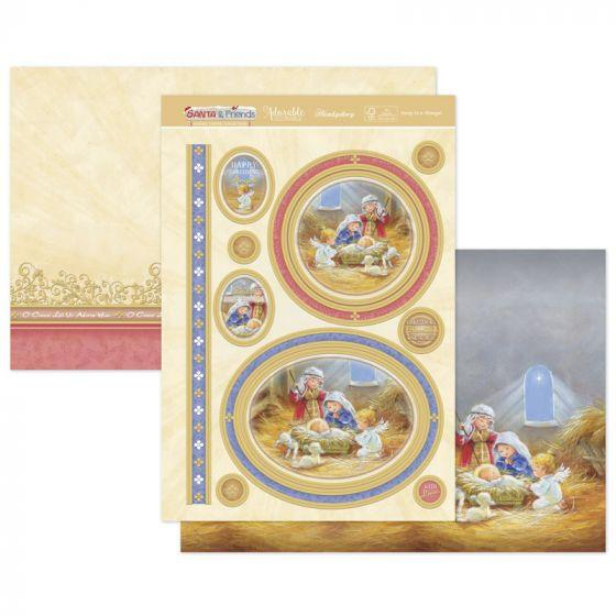Away In A Manger Luxury Topper Set-HunkyDory-Freya Jones Art and Craft