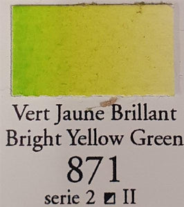 Bright Yellow Green 871 Half Pan-Sennelier-Freya Jones Art and Craft