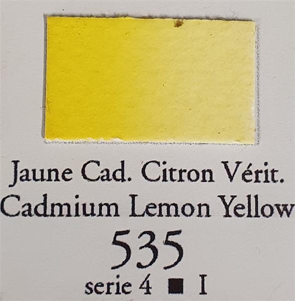 Cadmium Lemon Yellow 535 10ml Tube-Sennelier-Freya Jones Art and Craft