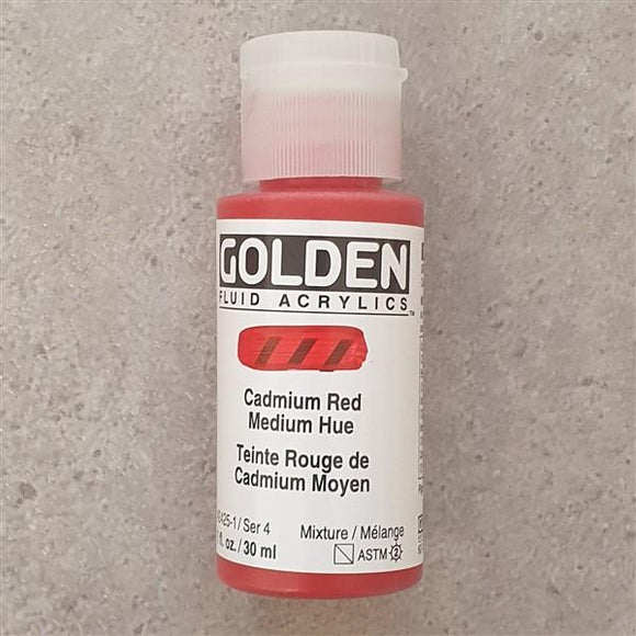 Cadmium Red Medium Hue Fluid Acrylic-Golden-Freya Jones Art and Craft